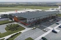 Vizualizace pardubického letiště