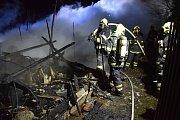 Požár zahradní kůlny ve Svinčanech.