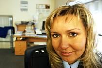 Policejní mluvčí Markéta Janovská v redakci Pardubického deníku