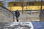 Lidé vyrazili do ulic a parků, aby si nejspíš poslední letošní sníh užili. Během dopoledne ale sněhová vrstva začala pod náporem slunečních paprsků rychle mizet.