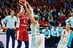 Ze zápasu české ženské basketbalové reprezentace.