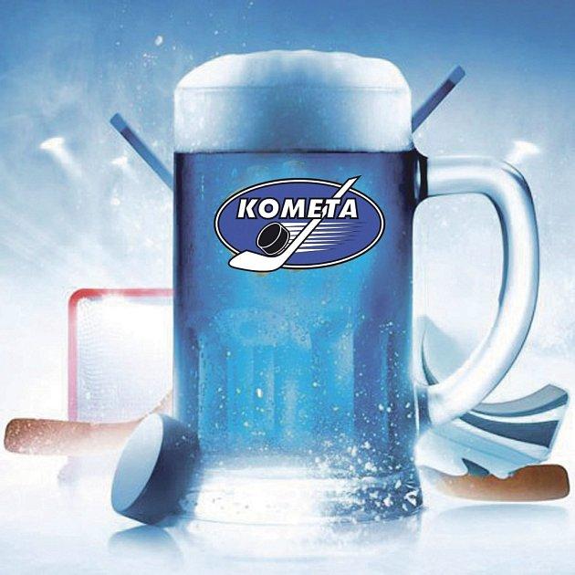 Brno oslavilo úspěch Komety speciální pivní edicí vmodré barvě