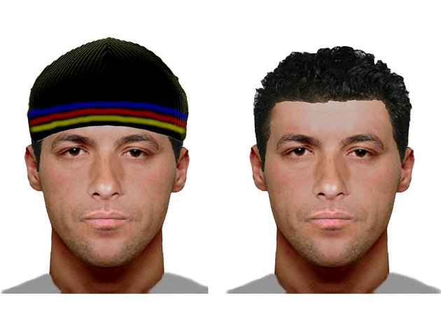Policejení podobizna jednoho z pachatelů loupeže v Bílé Vchynici. Muž měl s komplicem ohrožovat 80letou ženu pistolí.