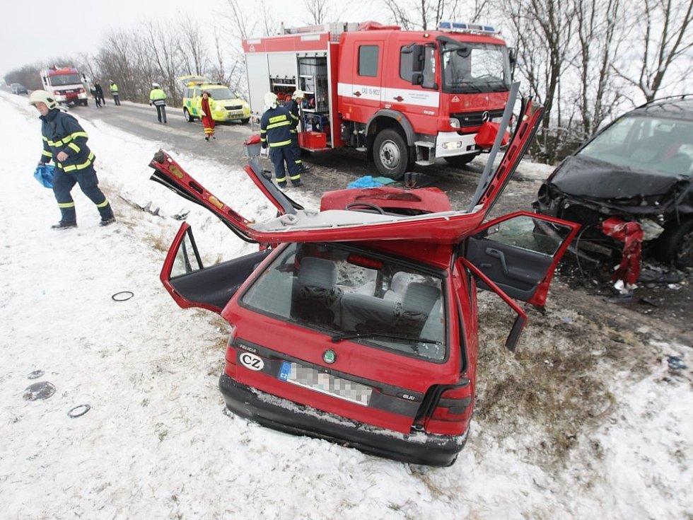 Nehoda u Ostřešan měla i přes snahu záchranářů smrtelné následky.