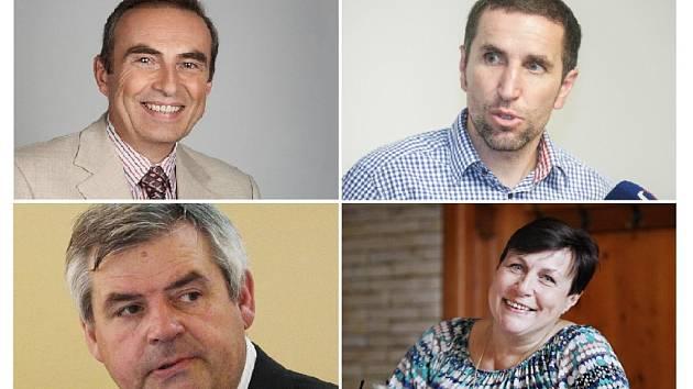 Koalici v Pardubicích nepodpoří čtyři jména. Jiří Skalický, Karel Haas, Petr Klimpl a Štěpánka Fraňková.