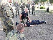 Výuka bojového umění Krav-maga u 14. pluku logistické