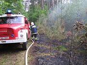 Lesní požár závěrem května 2009