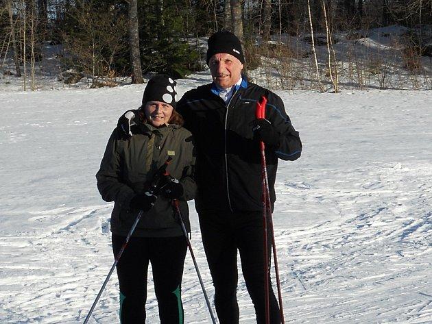 Petr Paťcha s manželkou ve Švédsku.