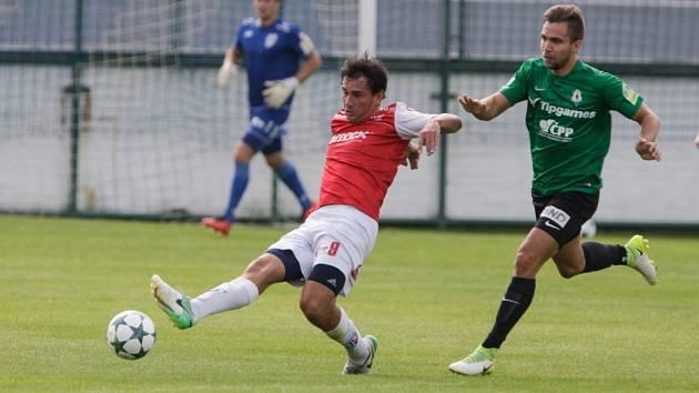 Přípravný fotbal Pardubice - Jablonec 0:1.