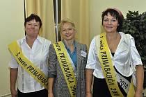 Vítězka Pavla Macáková (uprostřed), druhá v pořadi Dagmar Marková (vpravo) a třetí Alena Svobodová (vlevo)