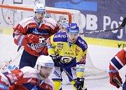 Z utkání hokejové extraligy Pardubice – Zlín (4:3 po prodloužení).