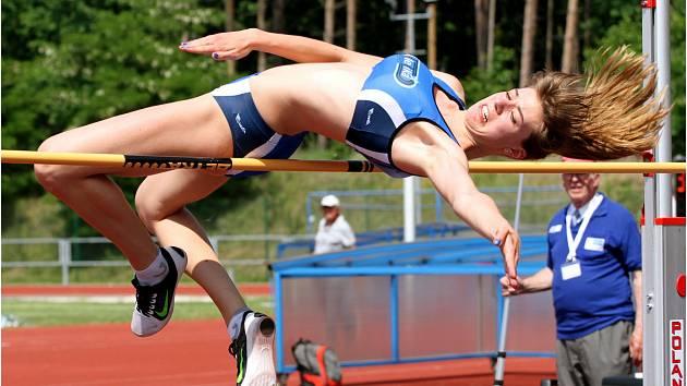Tereza Vacková při atletické extralize.