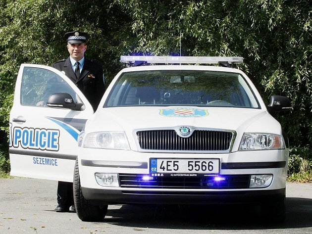 Luboš Frei, vrchní strážník Městské policie Sezemice.