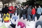 Tříkrálová sbírka byla slavnostně zahájena v Pardubicích na Pernštýnském náměstí.
