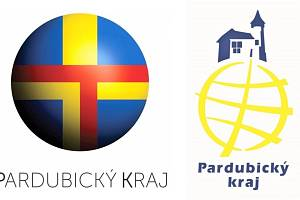 Srovnání nového (vlevo) a starého loga Pardubického kraje.