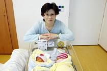 Kateřina a Lucie Machačovy se narodily 10. února v 15.09 a v 15.11 hodin. Měřily 48 a 45 centimetrů a vážily 2450 a 2160 gramů. Maminka Jana a tatínek Tomáš bydlí v Rosicích nad Labem a mají již tříletého Honzu.