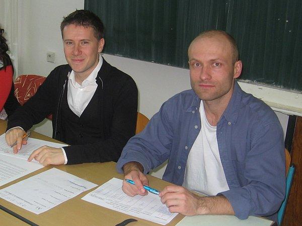 Guilhaume Courtois a Petr Stránský.