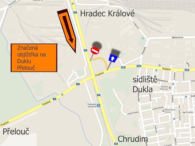 Současná dopravní situace na nadjezdu Paramo.