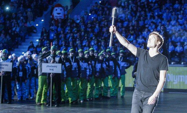 Slavnostní zahájení her VIII. zimní olympiády dětí a mládeže České republiky vpardubické Tipsport Areně.
