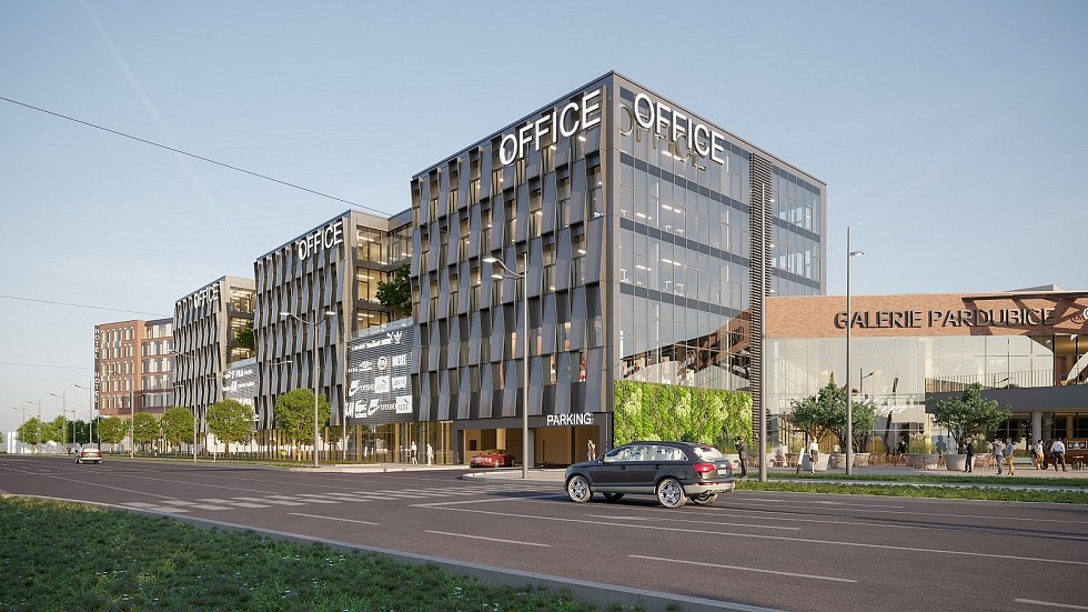 Vizualizace nového obchodního centra, které vyroste na Palackého třídě.