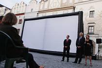 Promítání filmu Markéta Lazarová jako součást volební kampaně TOP09