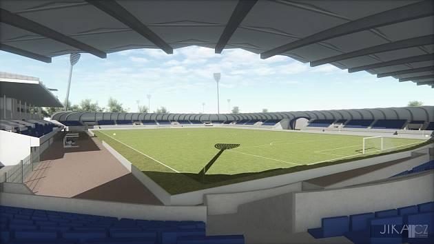 Vizualizace stadionu. Součástí má být i tréninkové hřiště.