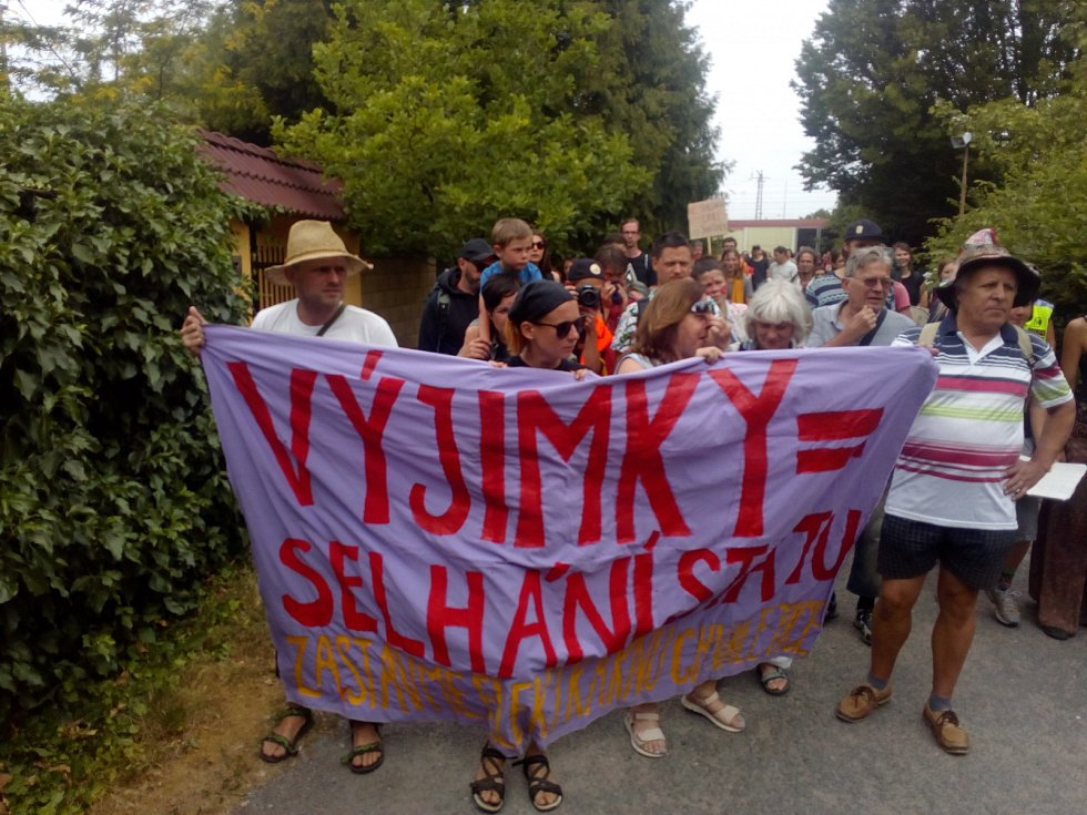 Protest proti elektrárně ve Chvaleticích