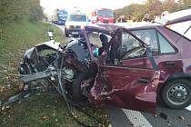 Smrtelná nehoda u Ostřetína, 17.10.2019