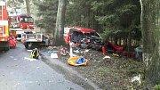 Vážná nehoda na truck trialu v Černuci