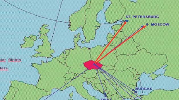 Letní letový řád. Takhle by měla letos v létě vypadat nabídka pardubického letiště. Novými destinacemi jsou španělská Almeria a Kypr. Charterové lety do Burgasu se promění v pravidelnou linku.