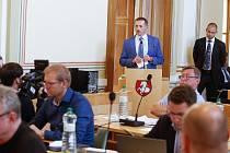 Petr Dědek na pardubickém zastupitelstvu.