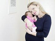 KATEŘINA PLÍŠKOVÁ se narodila  31. ledna ve 2 hodiny a 37 minut. Vážila 3170 gramů a měřila 48 centimetrů. Na malou Kateřinu a maminku Lucii čeká doma v Pardubicích společně s tatínkem Vratislavem, který byl přítomen porodu, i dvouletá Elena.