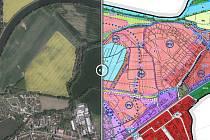 Chystaný územní plán města Pardubic plánuje proměnit velké plochy polí ve stavební parcely. Ukazuje to srovnávací mapka.