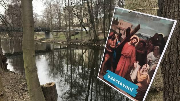 Salesiánský klub mládeže dočasnou křížovou cestu v blízkosti centra. Ta navíc lidi vezme i do přírody.