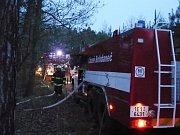 Výjezd bohdanečských hasičů k lesnímu požáru u Bukovky