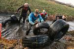 Extrémní závod Gladiátor Taxis race v Pardubicích.