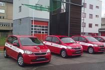 Nová vozidla mají hasičům ušetřit peníze za pohonné hmoty