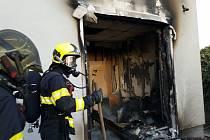 Požár sídla firmy v Rosicích