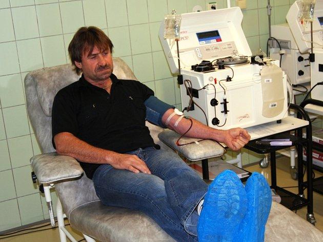 Petr Dušek daroval krev již dvěstěkrát
