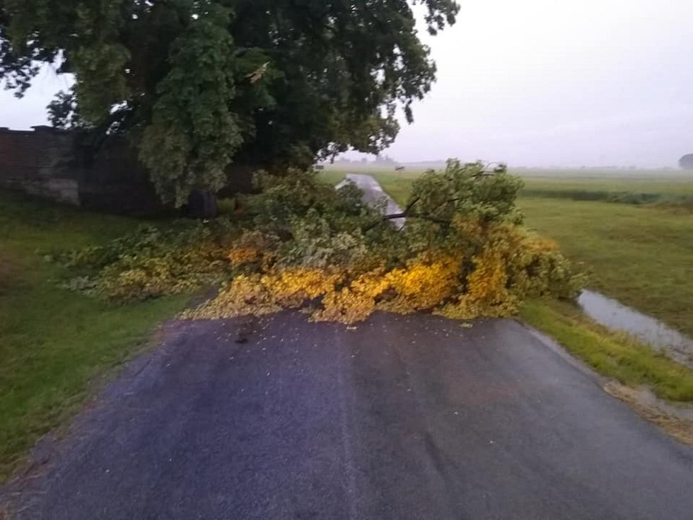 Hasiči odstraňují také následky silného větru