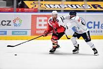 Hokejový útočník Adam Musil vstřelil v přípravném utkání tři góly Liberci.