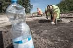 Záchranný archeologický výzkum v plánované trase dálnice D35 u obce Rokytno.