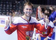POSTUPOVÁ RADOST. Na začátku června slavil Jan Bílý výhru ve čtvrtfinálovém utkání MS proti Indii, které vstřelil v závěru utkání dva góly. Český tým nakonec dosáhl na bronz.