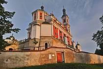 Barokní poutní chrám Panny Marie Pomocné na Chlumku.