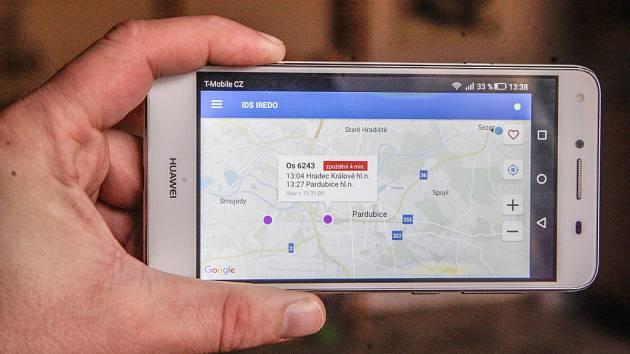 Aplikace ukáže zpoždění i aktuální polohu autobusu.