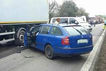 Nehoda u Holic s vyžádala jedno zranění.