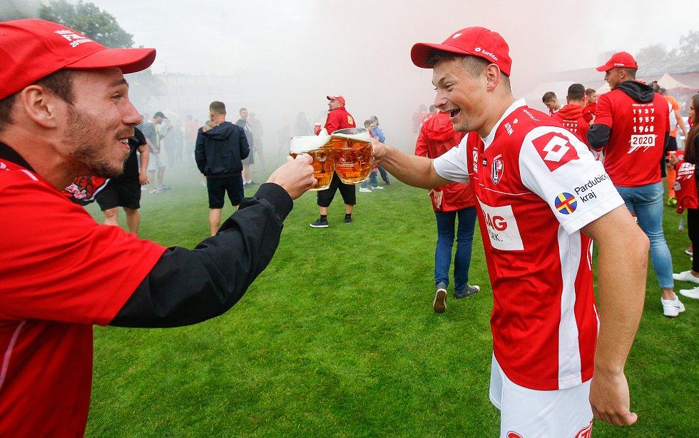 Fotbalová FORTUNA:NÁRODNÍ LIGA: FK Pardubice - FK Slavoj Vyšehrad.