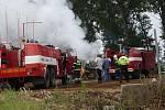 Technická závada způsobila požár na zemědělském stroji v Kasalicích. Škoda byla odhadnuta na půl milionu korun.