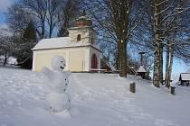Sněhulák na Veselém Kopci na Hlinecku.