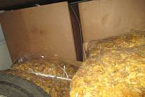 Dodávka převážela téměř 1,5 tuny nezdaněného tabáku.